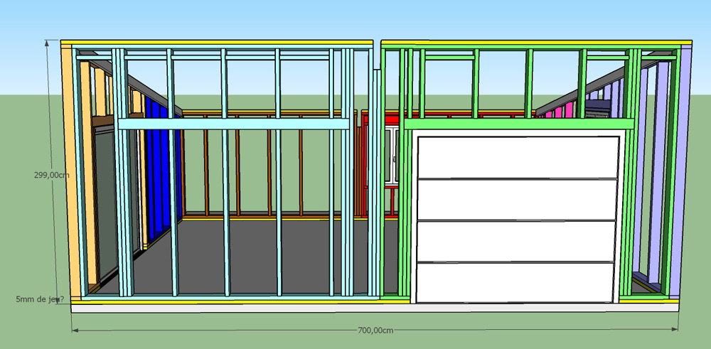 Construction d'un garage double en ossature bois - Page 3 Vue_face